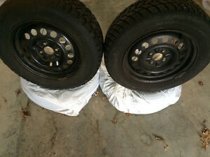"""Set of 4 15"""" Winter Snow Tires with Rims. 195/65R15"""