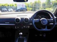2018 Audi A3 1.0 TFSI Black Edition 4dr Saloon Petrol Manual