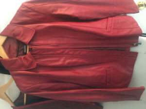 Danier Leather Jacket-red