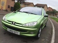 Peugeot 206cc convertible 1.6 spares or repairs