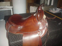 "16"" Western Barrel Racing Saddle - ALL LEATHER"