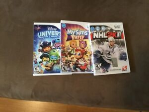 Nintendo Wii: NHL 2011+My Sims Party+Disney Universe