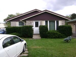 3 bedroom main floor of house with added basement space.