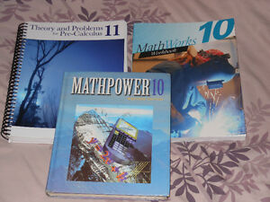Math 10 and 11 textbook and workbooks
