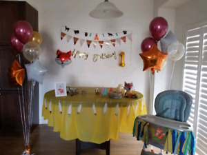 First birthday decor, fox theme, pick up soon,banner sold
