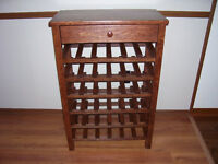 36 bottle wine rack with drawer