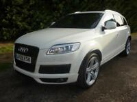 AUDI Q7 3.0TDI TIPTRONIC QUATTRO S LINE, SAT NAV FULL LEATHER, 68,000 MILES ONLY