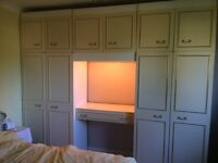 Fitted double wardrobe unit