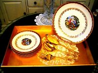 Service dessert 22k or + Coutellerie Stainless plaqué or VINTAGE