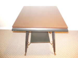 SQUARE HEAVY OCCASIONAL TABLE WITH GLASS BALL AND CLAW FEET