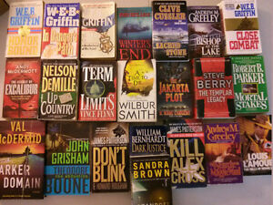 22 books including  (Cussler, Griffin, Smith, Patterson, Grisham