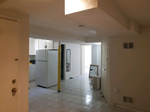 2 Bedroom Basement  with Separate Entrance For Rent
