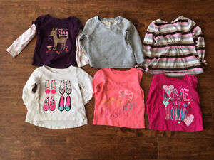 Very cute girls 2T size Long sleeves Shirts for $15 Oakville / Halton Region Toronto (GTA) image 1