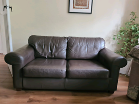 Ikea Brown Leather Sofas - reduced for quick sale