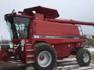 2003 Case IH 2388 combine with 2015 pickup header