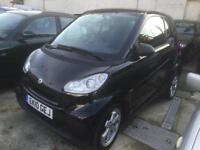 Smart fortwo 1.0 ( 84bhp ) Passion automatic 2010 full smart history, black, sat