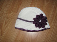 Hat homemade with sparkle flower (new)