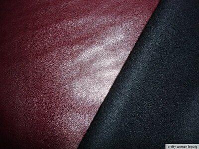 1 Lfm Softshell  Stoff 4,00€/m² rotbraun Kunstleder GA4