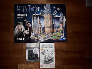3D Puzzles! Harry Potter Great Hall, Queen Anne and Pagoda