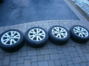 Mazda 3 Summer Tires and Rims For Sale In Great Condition