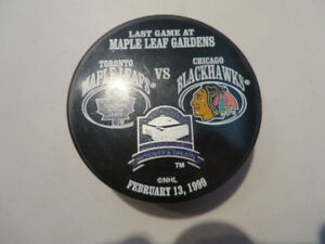 Last Game at Maple Leaf Gardens Game Puck--Feb. 13-1999