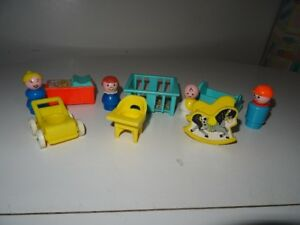 Ancien Fisher Price Play Family Nursery  Garderie Bébé Jouet 761