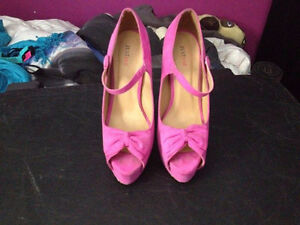 Pink 5 inch High heels with bow