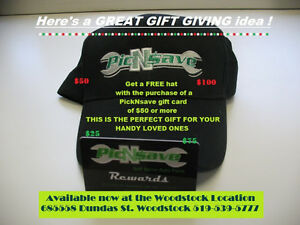 GIFT CARD BUNDLE @ PICNSAVE USED AUTO PARTS