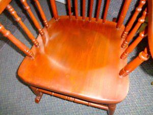 Solid Hardwood ROCKING CHAIR Hand-Carved ANTIQUE—Sculpted Seat