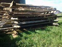 Naturally Aged Cedar Split Rails and Posts