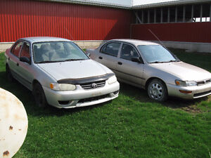 Parts cars, 93 & 01 Corollas-Take whole car or just what u need