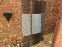 GLASS SHOWER PANELS (4) Free to collect