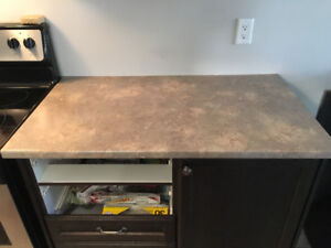 Kitchen and bathroom counters with sinks