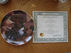 """ A Bushel of Trouble"" Collector Plate"