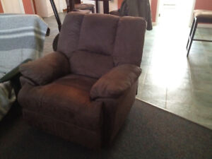 FAUTEUIL BERCANT  INCLINABLE GRIS FONCE OLIVIER