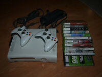 Xbox 360, 2 wireless controllers, 11 games