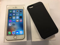 iPhone 6 Gold o2/Giffgaff network 16gb with case