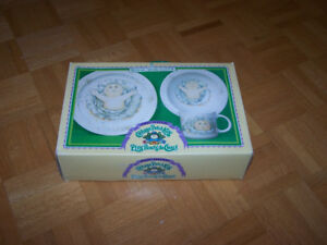 Cabbage Patch Kids Royal Worcester 3 piece Dish Set '83 - new