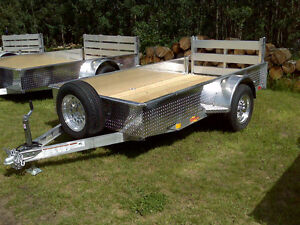 NEW!! 5.5' wide x 10' long ALUMINUM Trailer.  Canadian made!