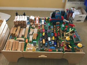 Thomas wooden train set with table