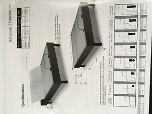 Sealy electric adjustable Reflexion 2 bed foundation