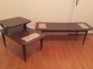 Table à café et table dappoint vintage - Vintage coffee table