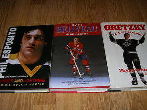 Books - Gretzky, Esposito, Beliveau, Weir, Ali, Cherry, etc. Windsor Region Ontario image 1