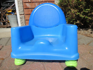 Plastic blue booster seat