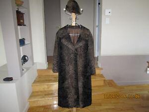 Manteau de fourrure en soie kara