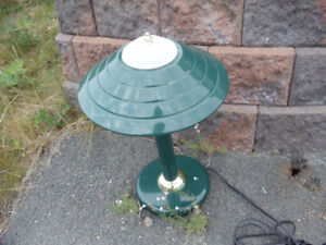 Green Metal Electric Desk Table Lamp