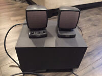 Use Altec lansing Speakers with Subwoofer