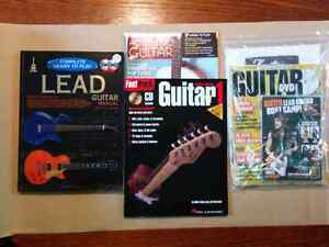 Guitar lesson books and magazines
