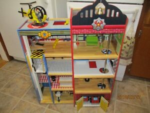 Costco brand Wooden Fire/Police Station