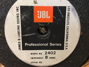 JBL 2402 - Ultra High Frequency Driver - Pro Series